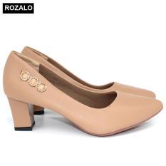 Giày cao gót vuông 5P Rozalo R5630