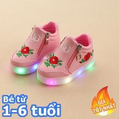 [SIÊU RẺ] Giày bé gái – giay be gai – giày cho bé gái – giay cho be gai – giày trẻ em – giay the thao cho be gai – giày thể thao cho bé gái – giay dep tre em – giày phát sáng trẻ em – Giày cao cổ gắn đèn led cho bé gái
