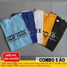 COMBO 5 Áo Thun Nam Cotton BM06 – Màu Ngẫu Nhiên