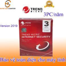 Phần mềm diệt virus internet Trend Micro 3pc/năm 2019 hãng phân phối