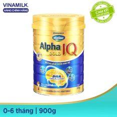[GIẢM 49K cho đơn 699K] [Freeship HCM & HN] Sữa Bột Vinamilk Dielac Alpha Gold IQ Step 1 – Hộp Thiếc 900g – Dành cho bé 0-6 tháng tuổi