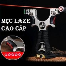 Chạc Cao Su ( MẸC LAZE ) Hợp Kim Chống Gỉ Kèm Đèn Laze + 50 Bi + 1 Dây Thun, S úng Cao Su N á Bắn Chim Cao Cấp Giá Rẻ
