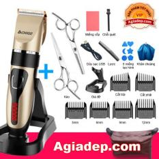 Bộ tông đơ cắt tóc chuyên nghiệp F838 + Đủ bộ phụ kiện kéo đa dụng dùng cho hiệu tóc hoặc tại nhà