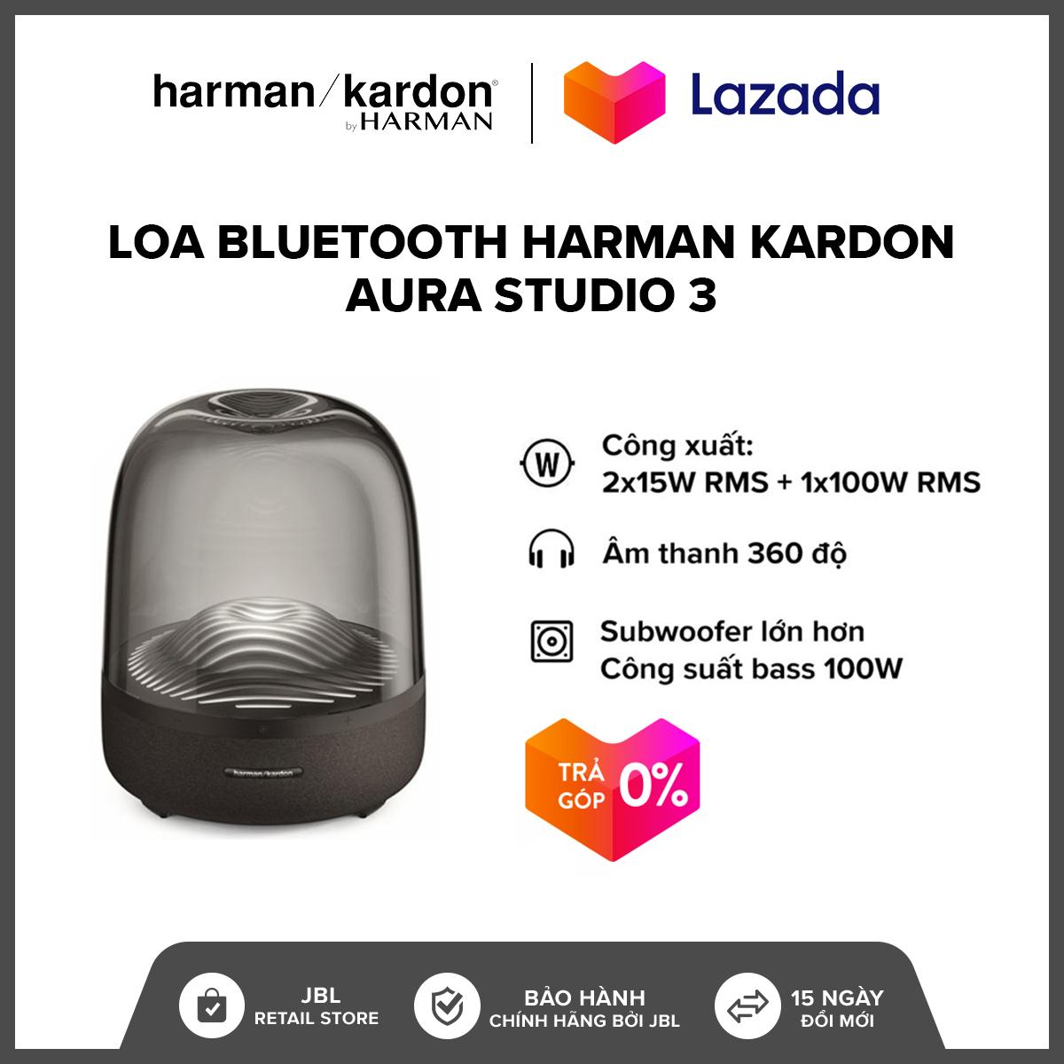 [VOUCHER 1200K – TRẢ GÓP 0%] Loa Bluetooth Harman Kardon Aura Studio 3 l Công suất: 2 x 15W RMS + 1 x 100W RMS l 45Hz-20kHz l Bluetooth 4.2