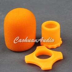 Bông lọc micro kèm chống lăn màu cam