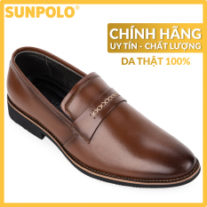 Giày tây công sở nam da bò SUNPOLO SPH295RN (Bò, Nâu)