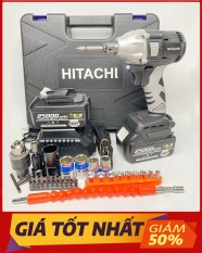 Máy Siết Bulong Pin HITACHI 198VF [ TẶNG PHỤ KIỆN + BH 12 Tháng ] – Không Chổi Than 2 Pin