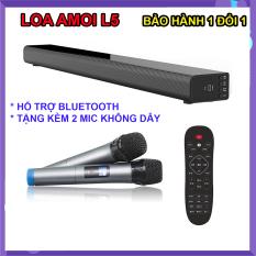 Loa thanh 5.1 nghe nhạc kết nối Bluetooth Amoi L5 Kèm 2 Micro karaoke không dây