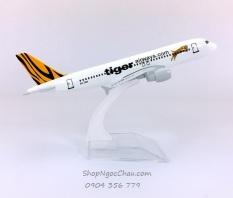 Mô hình máy bay tĩnh A320 Tiger Air 16cm