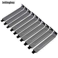 Jettingbuy Lovelygirl 10 Chiếc Mới Đen Khe Cắm PCI Bao Lọc Bụi Tẩy Trống Tấm Thép Cứng