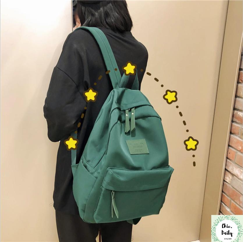 Balo thời trang Ulzzang Hàn Quốc đẹp – Chất liệu chống thấm, bền bỉ – Cặp sách nhiều ngăn rộng cho học sinh
