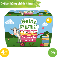 Hỗn Hợp Nghiền Custard Trái Cây HEINZ cho bé 04 tháng trở lên [ DATE: 30.09 ]