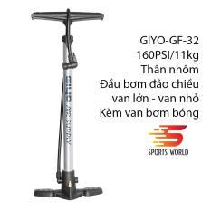 Bơm xe đạp, xe gắn máy 160Psi/11 kg Giyo GF-32 thân nhôm, đầu bơm đảo chiều