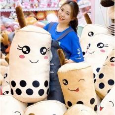 Gấu Bông Gối Ôm Bình Trà Sữa Nhồi Bông Chất Liệu Vải Nhung Hàn Quốc size nhỏ