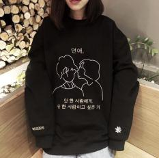 Áo Thun Sweater In Chữ Hàn
