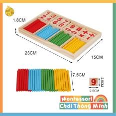Bộ que tính học toán – Đồ chơi Montessori thông minh cho bé (Giao màu ngẫu nhiên)