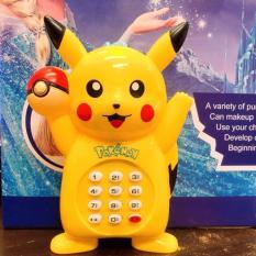 Đồ chơi điện thoại bàn cầm tay Pikachu dùng pin có nhạc xinh xắn, ngộ nghĩnh cho bé