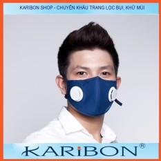 Khẩu trang Karibon Maxair 8 lớp có than hoạt tính và van thở 1 chiều, lọc bụi mịn và khử mùi