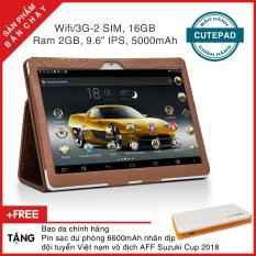 Máy tính bảng cutePAD (2018-Gold) M9601 Wifi/3G 16GB, Ram 2GB, 9.6″ IPS – Bảo hành chính hãng, Tặng bao da & pin sạc dự phòng
