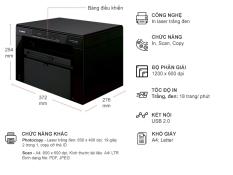 Máy in laser đa chức năng canon MF3010 (hành chính hãng Lê Bảo Minh)