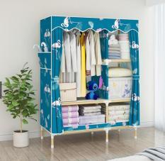 Tủ quần áo 2 buồng 5 ngăn size 1m khung gỗ cao cấp