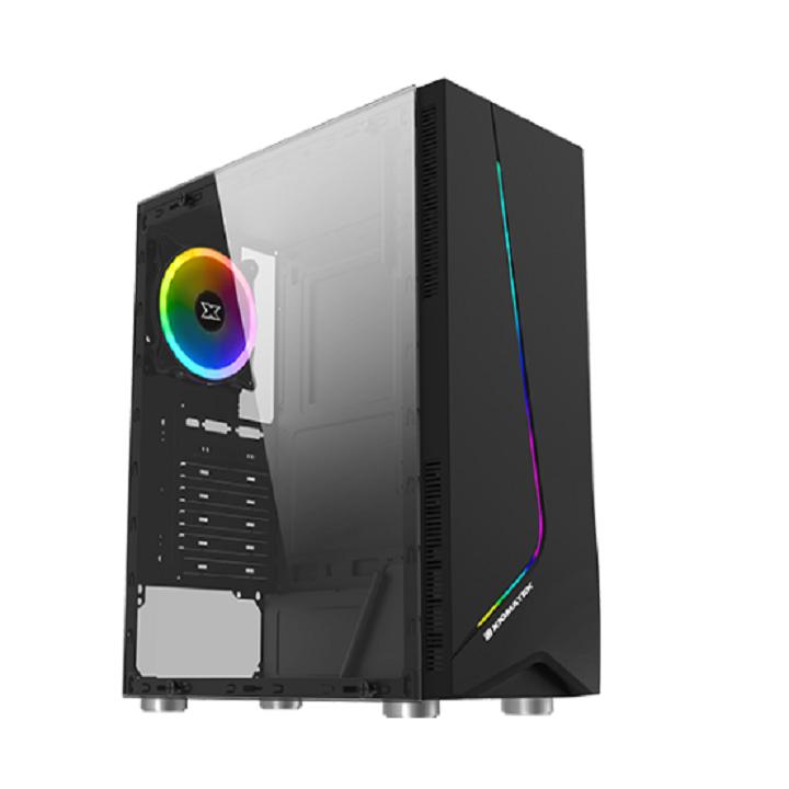 Vỏ máy tính Xigmatek EROS – ATX, Dải led RGB, Mặt hông kính cường lực