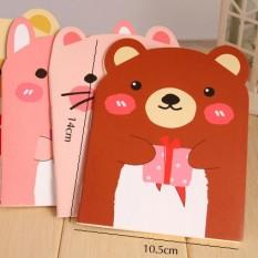 Sổ Gấu Dễ Thương Có Dòng Kẻ Phong Cách Hàn Quốc