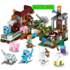 Lego Minecraft – chuỗi lego minecraft no 6005 [my world hot 2020] lb571 (388 chi tiết), chất liệu an toàn cho sức khỏe trẻ nhỏ, cho trẻ thỏa thích vui chơi và sáng tạo