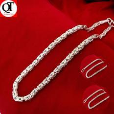 Dây chuyền nam Bạc Quang Thản, vòng cổ nam xà tích dạng tròn chất liệu bạc thật không xi mạ, trọng lượng nhiều cỡ khác nhau độ dài 50cm, phong cách nam tính, lịch lãm – QTVNA3