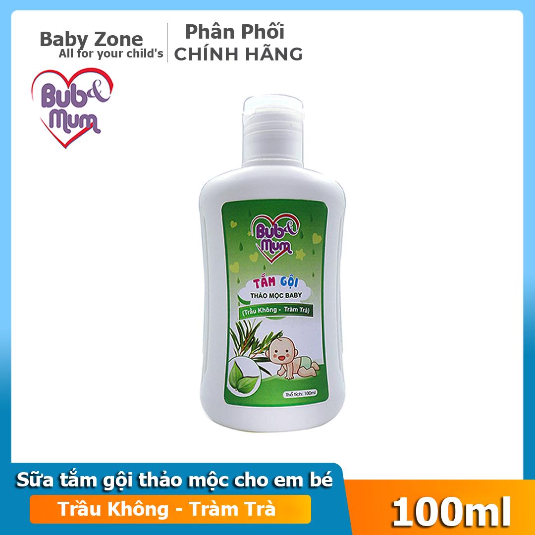 Sữa tắm dầu gội toàn thân chiết xuất Tràm Trà , không cay mắt cho bé BuB&MuM