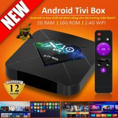 Android TV BOX RAM 2G, Bộ nhớ 16G, xem phim 4K, chơi game, hỗ trợ tính năng tìm kiếm bằng giọng nói mới nhất hiện nay, bảo hành 12 tháng X10