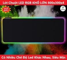 Lót Di Chuột Đèn LED RGB Nhiều Chế Độ Khác Nhau Loại Lớn SIZE 300*800*4mm, Pad Chuột Full Bàn Cho Cả Bàn Phím Và Chuột