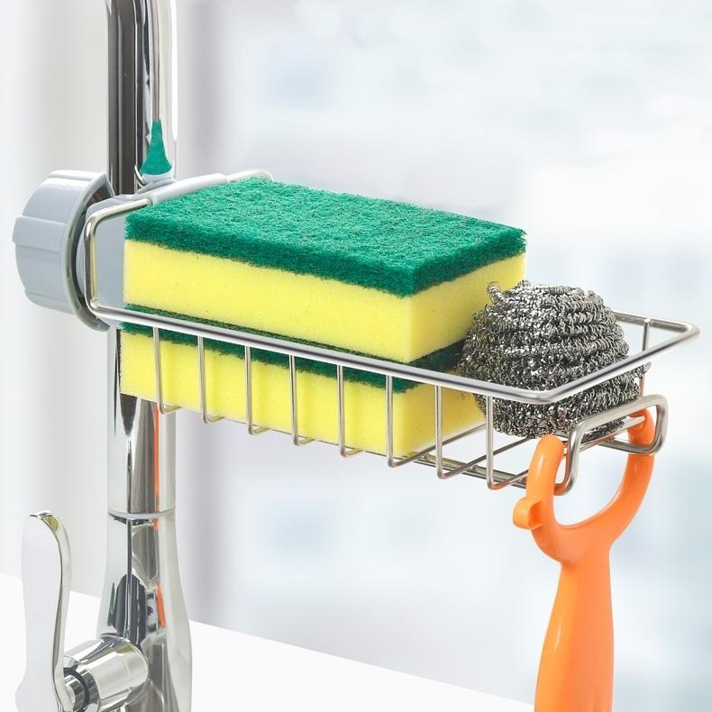 Giá để giẻ rửa bát, nước rửa chén DandiHome inox cao cấp, đa năng