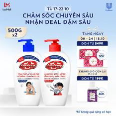 Combo 2 Nước rửa tay sạch khuẩn Lifebuoy Bạc Bảo Vệ 500G & Sữa Dưỡng Ẩm 500g