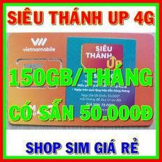 Sim 4G Vietnamobile Siêu Thánh Sim UP có 150GB/tháng + Tặng Sẵn 50.000đ + Nghe Gọi Và Nhắn Tin Nội Mạng Miễn Phí – Shop Sim Giá Rẻ