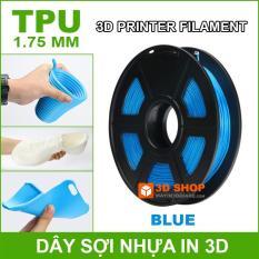 Dây sợi nhựa in 3D TPU dẻo 1.75mm 0.5Kg Blue