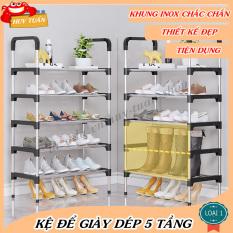 Kệ để giày dép 5 tầng khung inox có thể tháo rời, giá để giày inox 5 tầng,giầy dép,kệ để đồ,kệ sách,ke giay dep,đồ nội thất Giá để giày dép lắp ghép Huy Tuấn