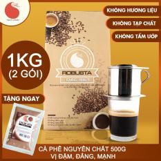 1KG Cà phê bột Robusta Đặc biệt , đậm , đắng , mạnh , Light Coffee , cà phê nguyên chất không tẩm ướp, không pha trộn tạp chất , giá rẻ