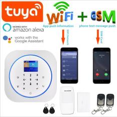 Bộ báo động chống trộm an ninh thông minh có màn hình WOFEA, Hoạt động tốt với Alexa và Google home, GỌI TRỰC TIẾP QUA SIM VIỆT NAM