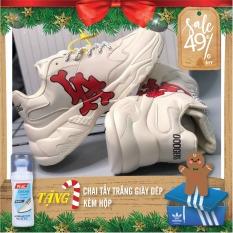 Giày thể thao MLB DODGERS IA chữ đỏ độn đế in 3D sắc nét không phai cực hot cho nam nữ couple || Best Shoes VN