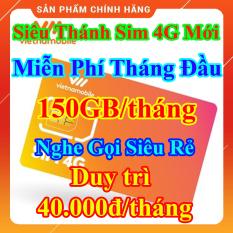 Siêu Thánh Sim 4G Mới Vietnamobile – Miễn Phí DATA 150GB/tháng – Gia hạn 40k/tháng – Nghe gọi cực rẻ