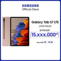 Máy tính bảng Samsung Galaxy Tab S7 LTE – Tặng bookcover – Bảo hành 12 tháng – Hàng chính hãng (Không tặng kèm bàn phím)