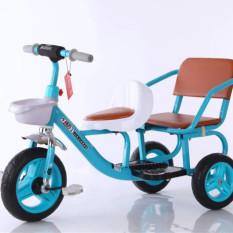 Xe đạp 3 bánh xích lô 2 ghế cho bé (kèm giỏ)