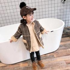 Áo khoác lông Hàn Quốc cho bé gái 3-8 tuổi