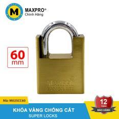 Ổ Khóa Chống Cắt Chìa Sắt MAXPRO Vàng 60mm – M02SCC60