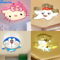 Đèn Mâm LED Ốp Trần Trang Trí Phòng Ngủ Cho Bé Trai Bé Gái Mèo Kitty Doremon Nobita Ngôi Sao Led 3 Chế Độ Màu 30W 220V OP1212 Ngân Tín