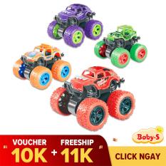 Xe địa hình bánh đà, xe ô tô đồ chơi cho trẻ em nhào lộn 360 độ chạy đà cực mạnh bằng nhựa nguyên sinh ABS Baby-S – SDC054