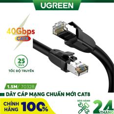 [Nhập ELMAY21 giảm thêm 10% đơn từ 99k] Dây cáp mạng chuẩn mới Cat 8 tốc độ truyền dữ liệu 2000MHZ và 25Gbps dài từ 1-10m UGREEN NW121