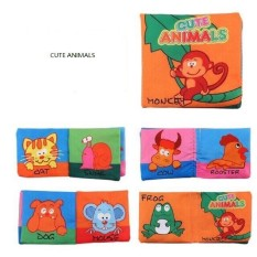 sách vải bé bao gồm hình nhân vật màu thực phẩm hình số