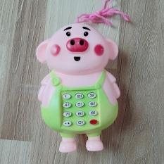 Đồ Chơi Điện Thoại Lợn Cầm Tay Dùng Pin Có Nhạc Cho Bé (SP001675 )